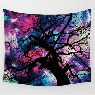 Tree against galaxies - Table Cloth - Bordsduk -