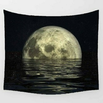 The Moon Tarot Table Cloth - Bordsduk -