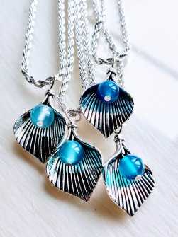 Mermaid Blue Agat Necklace -