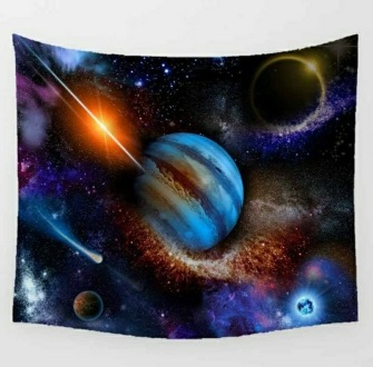 Fantasy Jupiter tarot tablecloth -