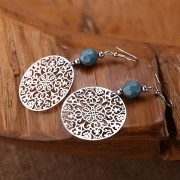 Delicate lightweight steel mandla earrings