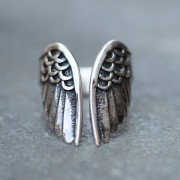 Angelwing steel ring
