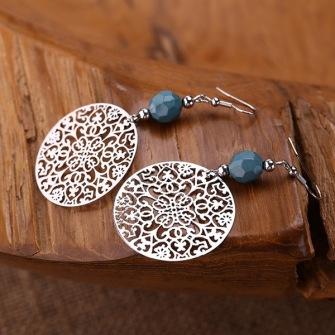 Delicate lightweight steel mandla earrings -
