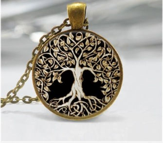 Tree of life cabochon necklace -