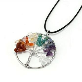 Chakra necklace Tree of Life -