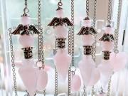 Angel Pendulums in Rose Quartz