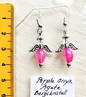 Earrings one of a kind - Purple Onyx Agate