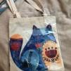 Väska - Blå katt
