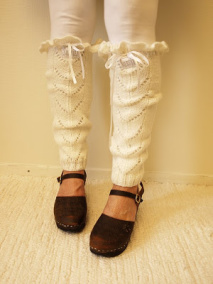 benvärmare - stickad long socks