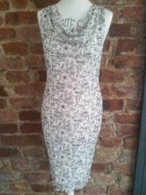 Stina klänning - stina svart/vit