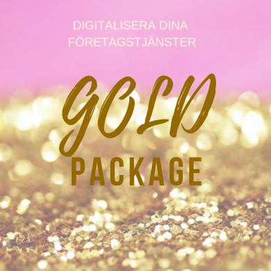 Digitalisera dina företagstjänster GuldPaket - Lansering- Digitalisera dina företagstjänster GuldPaket