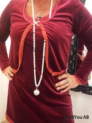Linetta klänning och bolero röd