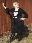 Melissa klänning svart