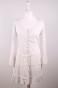 Vicky klänning/handstickad och grafitgrått linne - Vicky i vitt linnetyg