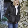 LADIES HOODED CROSSOVER JACKET - black S