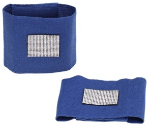 Bandageresår m Kristaller olika färger - Blå Cob-Full