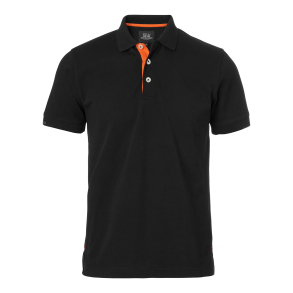 325 Weston Polo ms - Black/Orange XS