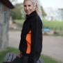 228 Lucy Zip collar - Black/Orange S
