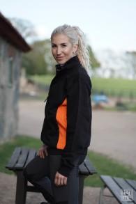 228 Lucy Zip collar - Black/Orange XS
