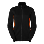 228 Lucy Zip collar - Black/Orange M