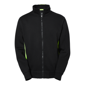 227 Lincoln Zip Coll - Black/Lime XS