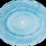 Mateus-Bubble oval platter 35cm - mateus bubble oval platter 35 cm turquise