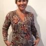 Cashe design- Lady blouse - lady blouse red pommerange xxl