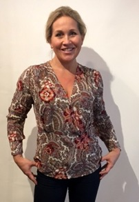 Cashe design- Lady blouse - lady blouse red pommerange xs