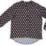 Cashe Design- Flower Blouse black