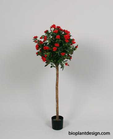 Ros på stam boll form röd. 80cm