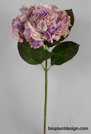 Hortensia lila vit 71 cm