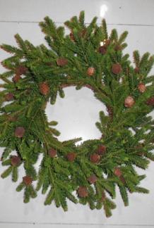 Julkrans med kottar 50 cm -