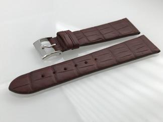 Äkta alligator - LOUISIANA - 18 mm brun