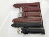 Vadderade läderband - MORA - 22 mm, röd/brun