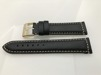 Vadderade läderband - MORA - 20 mm, svart