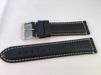 Vadderade läderband - MORA - 22 mm, svart