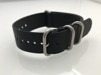 Enfärgade nylonband - TEXAS - 24 mm, svart