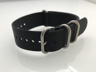 Enfärgade nylonband - TEXAS - 18 mm, svart