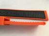 Gummi med Kolfiber - SILVERSTONE - 22 mm, orange med svart söm