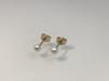 9 K örhängen i guld med Pärlor - VIOL - 3 mm