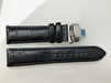 Band med viklås - HALMSTAD - 22 mm, svart