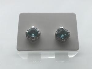 Silverörhängen med Akvamarin - IRIS