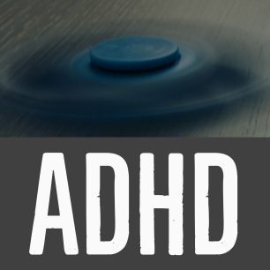 Image description: A spinning fidget spinner describing ADHD.