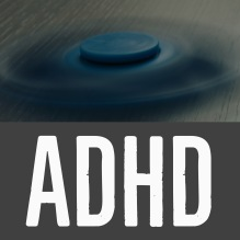 Image description: A spinning fidget spinner describing ADHD.