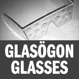 Syn-tolkning: Ett par glasögon med dimmade cirklulära partier som reducerar synen.