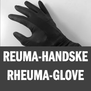 Syn-tolkning: En hand som har på sig en rheuma-handske.