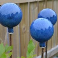 Blå kulor Blomstöd