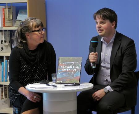 Marie Pettersson, kulturutvecklare i Årjängs kommun, intervjuade Staffan Ekengren om bokprojektet.