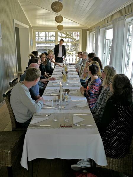 Staffan Ekengren och bokförlaget VOTUM bjöd inbjudna gäster på lunch i Restaurang Waterside Töcksfors.