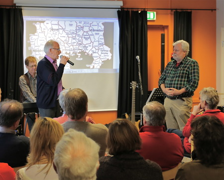 Bo Danielsson presenterade Staffan Svanqvist, ny medlem i tankesmedjan.